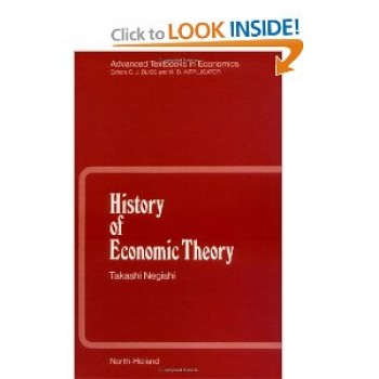 History of Economic Theory (Advanced Textbooks in Economics)