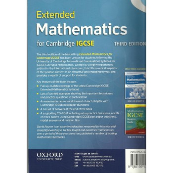 Extended Mathematics for Cambridge I.G.C.S.E