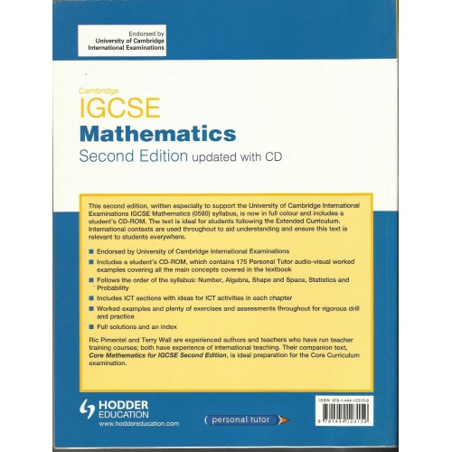 cambridge igcse international mathematics pimentel ric wall terry