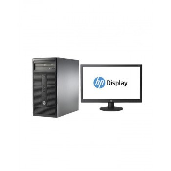 HP 280 G1 Intel Pentium Dual Core-3.2GHz (2GB,500GB HDD) FreeDOS Microtower PC Bundle with V193 18.5-inch LED Backlit Monitor