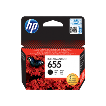HP 655 Black Original Ink Advantage Cartridge (CZ109AE)