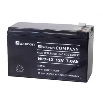 Maxtron 12V, 7AH SMF Battery