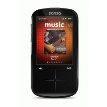 SanDisk Sansa Fuze+ SDMX20R Black (8 GB) Digital Media Player (Latest Model)