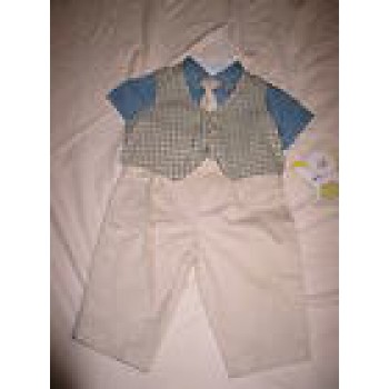 BABY BOY PANTS SET OUTFIT IN SIZE 3-6 MONTHS