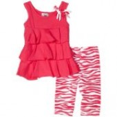 Good Lad Baby-Girls Infant Tiered Top Legging Set