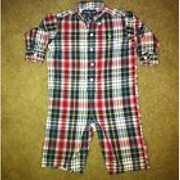 Ralph Lauren Boys Clothes Long Sleeve Romper Sz 12 Months