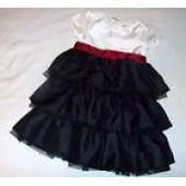 NWT Gymboree Christmas Holiday Black Tier Dress