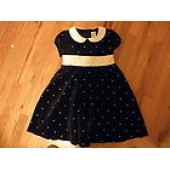 Gymboree Holiday Pictures Black Velvet Party or Christmas dress; 5T