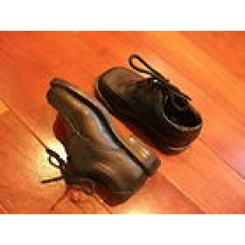 Black lace-up dress shoes, infant baby boy sz 5