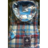 Curtis Blue and Red Check long sleeve shirt