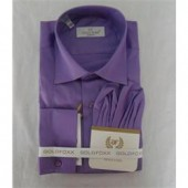 Gold Fox Purple Slim Fit Men's Longsleeve Office Shirt