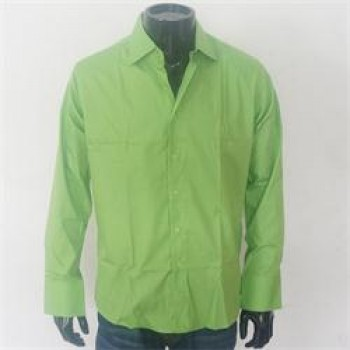 Hang Ten Green Slim Fit Men's L/Sleeve Shirt Sz XL/2XL