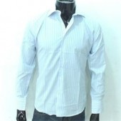 Massimo Blue/White Pattern Men's L/Sleeve Shirt Sz XL/2XL
