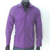 Massimo Purple Men's L-Sleeve Shirt Sz L-XL