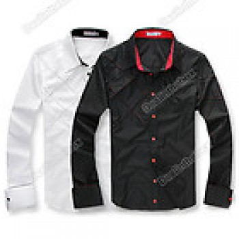 Mens Casual Slim fit Stylish Long Sleeve Shirts