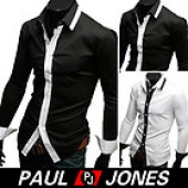 P&J Mens Fashion Casual Slim Fit Dress Shirts 3size+2CL