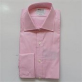 T.M.Lewin Pink Stripe Pattern Men's L/S Shirt Sz S