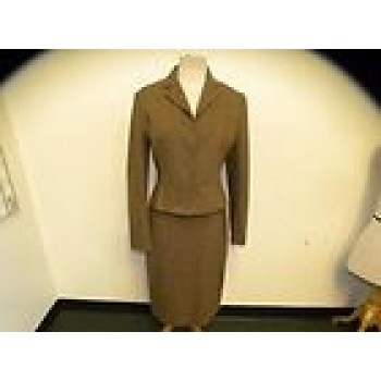 UNI FORM brown herringbone skirt suit 6