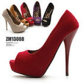 Womens Shoes Platform Stiletto Open Toe High Heels Multi Colored Faux Suede