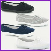 Ladies' Canvas Shoes Size 3-8