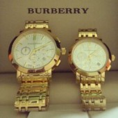 Burberry Gold Chain Watch