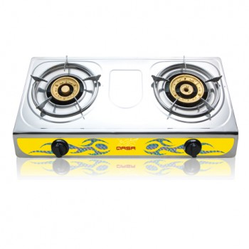 Qasa Stainless Gas Cooker (2 Gas Burner)