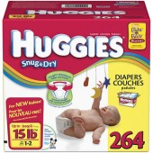 Carton of Huggies 264 stage 1-2