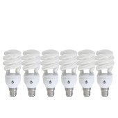 Gadgas 6-Pack 20Watt Low Energy Electric Bulb (Short Spiral)