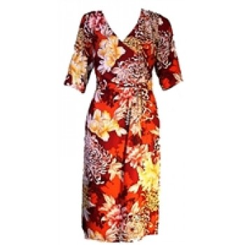 Alexis Orange Multi-coloured Floral Print Dress