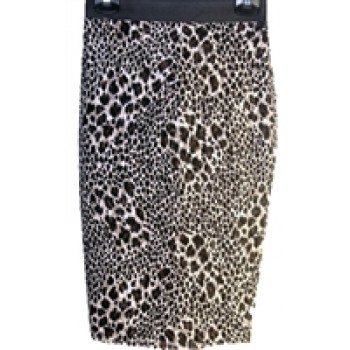 Animal Print Lace Skirt