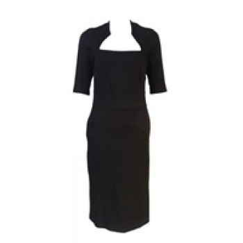 Black three quarter sleeve dress