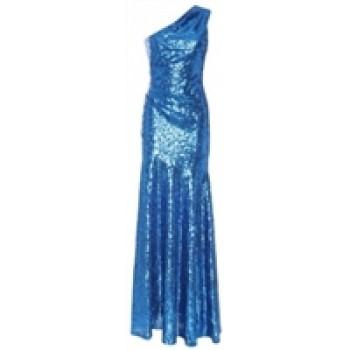 Celebrity Cobalt Blue Sequin Red Capet Dress