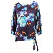 Flowery multicoloured top