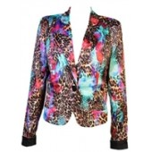 Multicoloured Animal Print Blazer