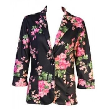 Multicoloured Floral Print Blazer
