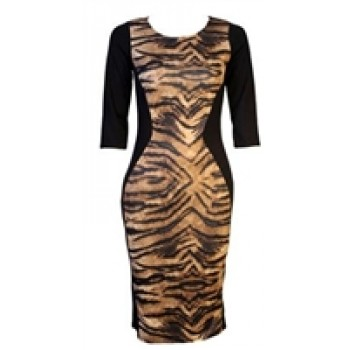 Black Leopard Print Bodycon