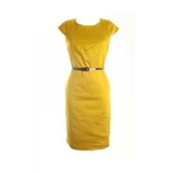 Detail Yellow Jersey Dress
