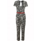 Leopard Print Jumpsuit with belt