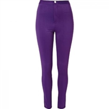 Purple River Island high Shine waist tube Pants
