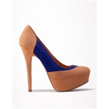 Blue & Camel Pumps