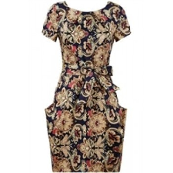 Angel Paris Floral Paint Dress