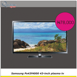 Quickbuy:plasma tv